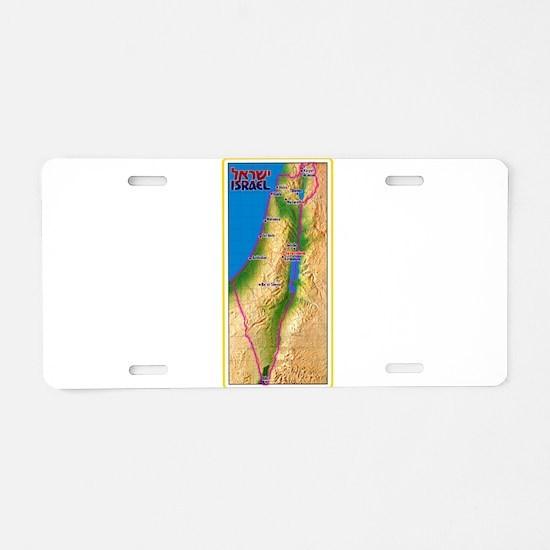 Israel Map Palestine Landsc Aluminum License Plate