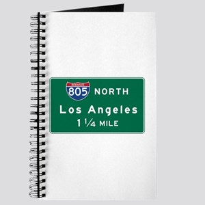 Los Angeles, CA Road Sign, USA Journal