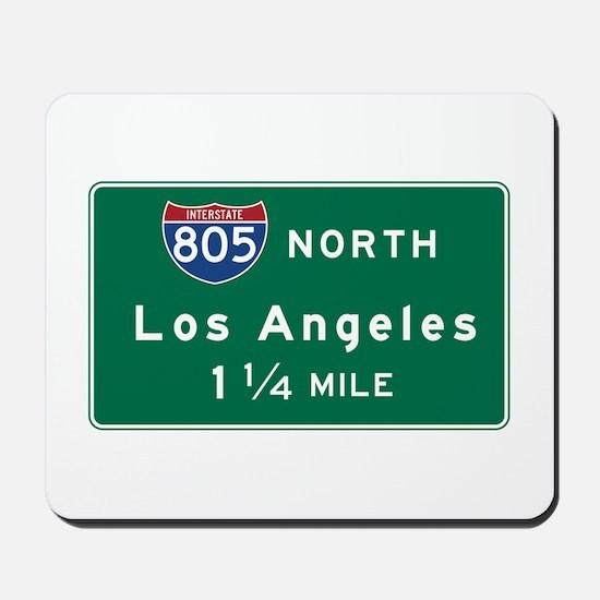 Los Angeles, CA Road Sign, USA Mousepad