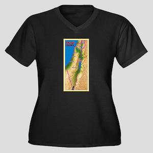 Israel Map Palestine Landscape B Plus Size T-Shirt