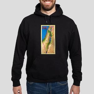 Israel Map Palestine Landscape Borde Hoodie (dark)