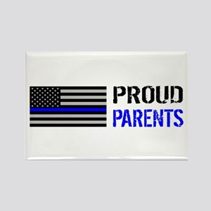 Police: Proud Parents Rectangle Magnet