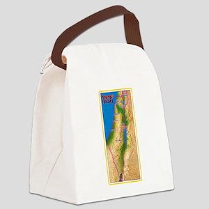 Israel Map Palestine Landscape Bo Canvas Lunch Bag