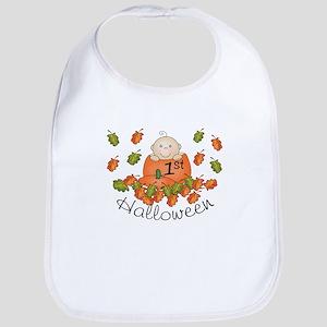 1st Halloween Baby Pumpkin Bib