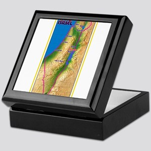 Israel Map Palestine Landscape Border Keepsake Box