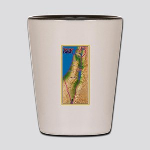 Israel Map Palestine Landscape Border J Shot Glass