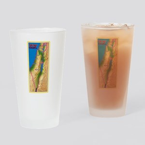 Israel Map Palestine Landscape Bord Drinking Glass