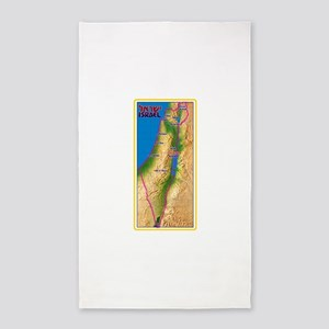 Israel Map Palestine Landscape Border Jew Area Rug
