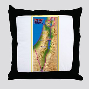 Israel Map Palestine Landscape Border Throw Pillow