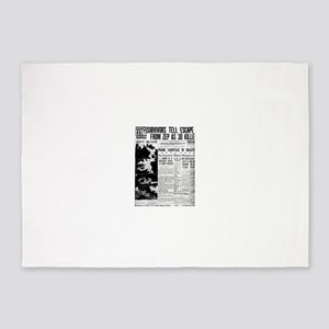 Old newspaper poster Zep Crash News 5'x7'Area Rug