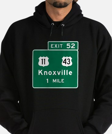 Knoxville, TN Road Sign, USA Hoodie (dark)