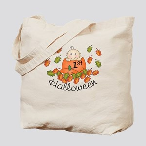 1st Halloween Baby Pumpkin Tote Bag
