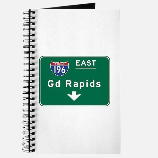 Grand Rapids, MI Road Sign, USA Journal