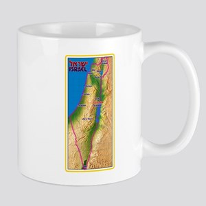 Israel Map Palestine Landscape Border Jewish Mugs