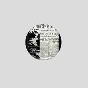 Old newspaper poster Zep Crash News Vi Mini Button