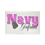 Navy Girlfriend Rectangle Magnet (100 pack)