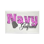 Navy Girlfriend Rectangle Magnet (10 pack)