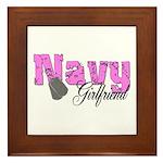 Navy Girlfriend Framed Tile