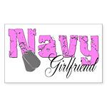 Navy Girlfriend Rectangle Sticker