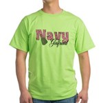 Navy Girlfriend Green T-Shirt