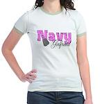Navy Girlfriend Jr. Ringer T-Shirt