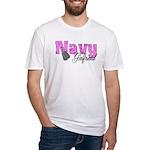 Navy Girlfriend Fitted T-Shirt