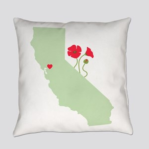 California State Map Everyday Pillow