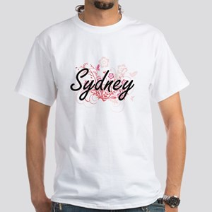 Sydney Artistic Name Design with Flowers T-Shirt
