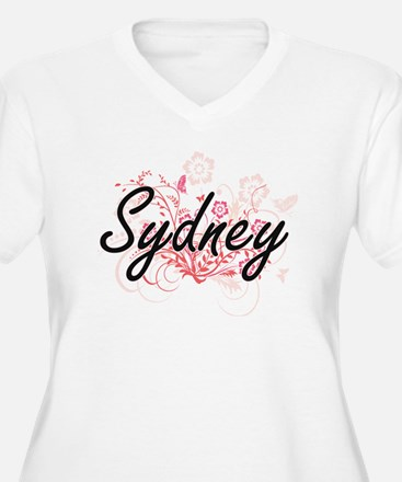 Sydney Artistic Name Design with Plus Size T-Shirt