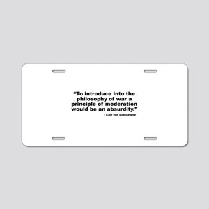 Clausewitz: Moderation Aluminum License Plate