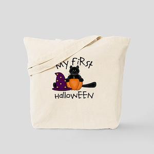 First Halloween BLACK CAT Pum Tote Bag
