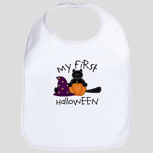 First Halloween BLACK CAT Pum Bib