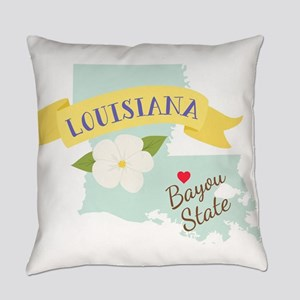 Louisiana Bayou State Outline Magnolia Flower Ever
