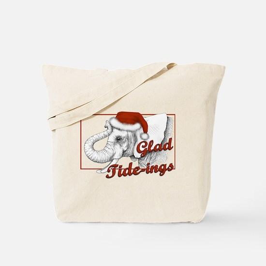 glad tidings Tote Bag
