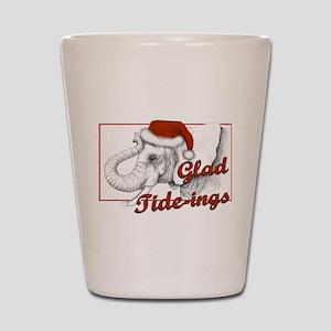 glad tidings Shot Glass