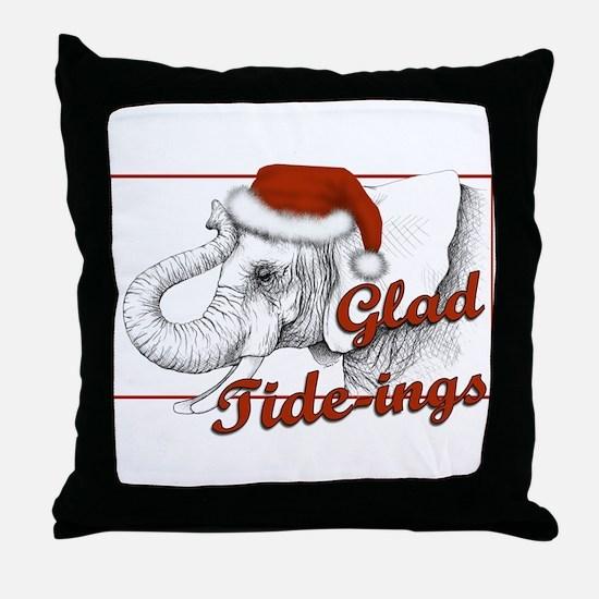 glad tidings Throw Pillow