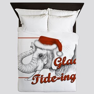 glad tidings Queen Duvet