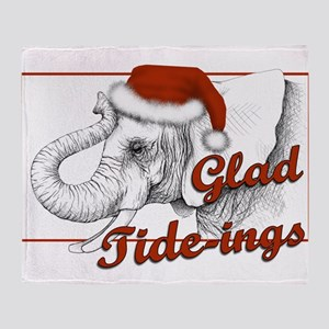 glad tidings Throw Blanket