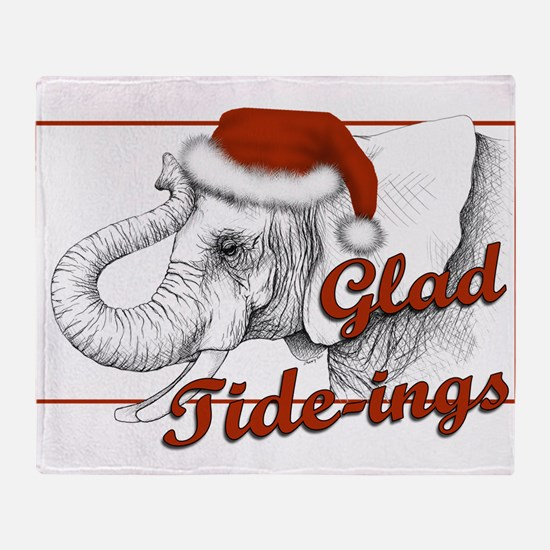 glad tidings Throw Blanket