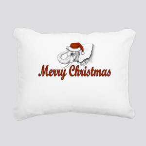 Merry Christmas Rectangular Canvas Pillow