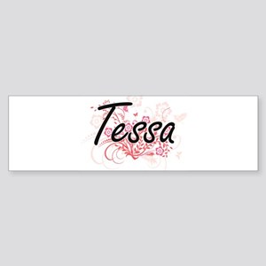 Tessa Artistic Name Design with Flo Bumper Sticker
