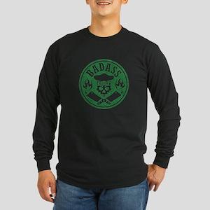 Badass Chef Green Long Sleeve T-Shirt