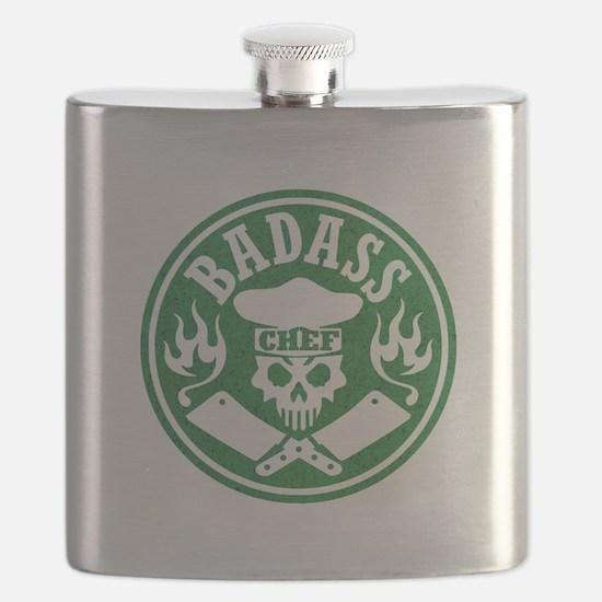 Badass Chef Green Flask