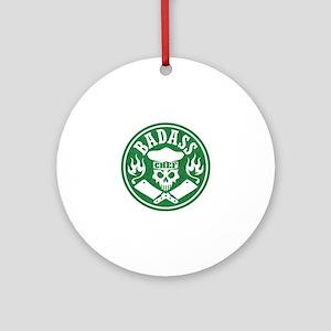 Badass Chef Green Round Ornament