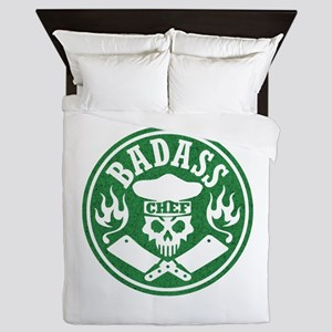 Badass Chef Green Queen Duvet