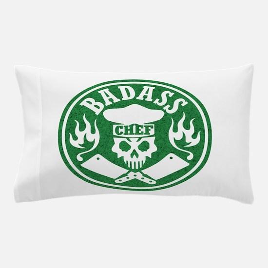 Badass Chef Green Pillow Case