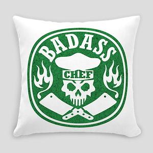 Badass Chef Green Everyday Pillow