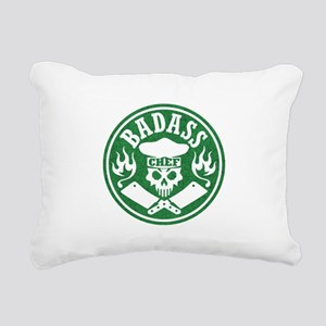 Badass Chef Green Rectangular Canvas Pillow