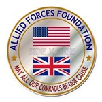 Allied Forces Foundation Round Car Magnet