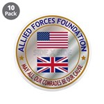 "Allied Forces Foundation 3.5"" Button (10 Pack"